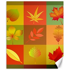 Autumn Leaves Colorful Fall Foliage Canvas 20  X 24   by Nexatart