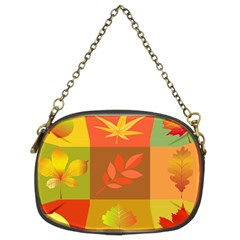 Autumn Leaves Colorful Fall Foliage Chain Purses (two Sides)  by Nexatart