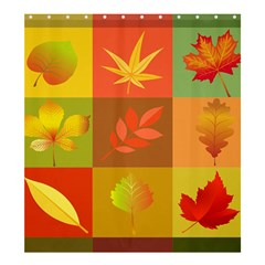Autumn Leaves Colorful Fall Foliage Shower Curtain 66  X 72  (large)