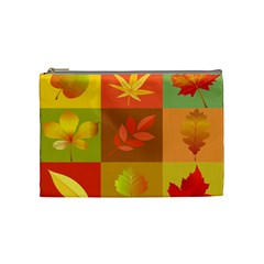 Autumn Leaves Colorful Fall Foliage Cosmetic Bag (medium)  by Nexatart