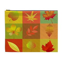 Autumn Leaves Colorful Fall Foliage Cosmetic Bag (xl) by Nexatart