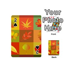 Autumn Leaves Colorful Fall Foliage Playing Cards 54 (mini)  by Nexatart