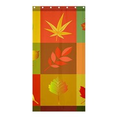 Autumn Leaves Colorful Fall Foliage Shower Curtain 36  X 72  (stall)  by Nexatart