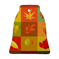 Autumn Leaves Colorful Fall Foliage Ornament (bell) by Nexatart