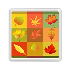 Autumn Leaves Colorful Fall Foliage Memory Card Reader (square)  by Nexatart