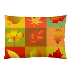 Autumn Leaves Colorful Fall Foliage Pillow Case (two Sides) by Nexatart