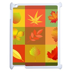 Autumn Leaves Colorful Fall Foliage Apple Ipad 2 Case (white) by Nexatart