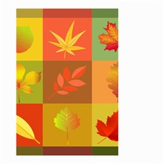 Autumn Leaves Colorful Fall Foliage Small Garden Flag (two Sides) by Nexatart