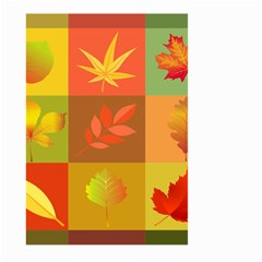 Autumn Leaves Colorful Fall Foliage Large Garden Flag (two Sides) by Nexatart