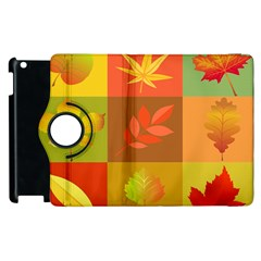 Autumn Leaves Colorful Fall Foliage Apple Ipad 2 Flip 360 Case by Nexatart