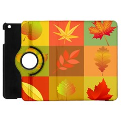 Autumn Leaves Colorful Fall Foliage Apple Ipad Mini Flip 360 Case by Nexatart