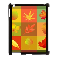 Autumn Leaves Colorful Fall Foliage Apple Ipad 3/4 Case (black) by Nexatart