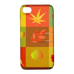 Autumn Leaves Colorful Fall Foliage Apple Iphone 4/4s Hardshell Case With Stand by Nexatart