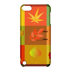 Autumn Leaves Colorful Fall Foliage Apple Ipod Touch 5 Hardshell Case With Stand by Nexatart