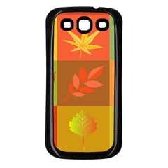 Autumn Leaves Colorful Fall Foliage Samsung Galaxy S3 Back Case (black) by Nexatart