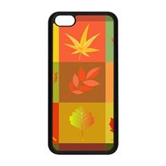 Autumn Leaves Colorful Fall Foliage Apple Iphone 5c Seamless Case (black) by Nexatart