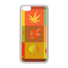 Autumn Leaves Colorful Fall Foliage Apple Iphone 5c Seamless Case (white) by Nexatart