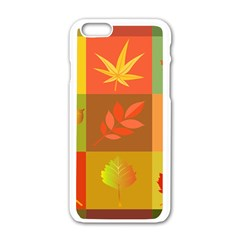 Autumn Leaves Colorful Fall Foliage Apple Iphone 6/6s White Enamel Case by Nexatart