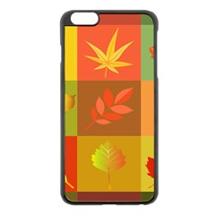 Autumn Leaves Colorful Fall Foliage Apple Iphone 6 Plus/6s Plus Black Enamel Case by Nexatart