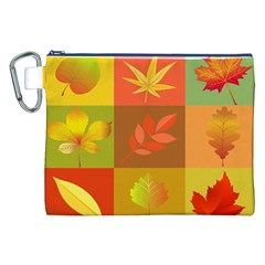 Autumn Leaves Colorful Fall Foliage Canvas Cosmetic Bag (xxl) by Nexatart