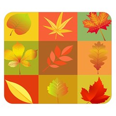 Autumn Leaves Colorful Fall Foliage Double Sided Flano Blanket (small)  by Nexatart