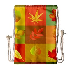 Autumn Leaves Colorful Fall Foliage Drawstring Bag (large) by Nexatart