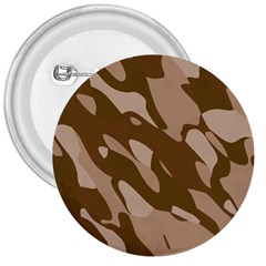 Background For Scrapbooking Or Other Beige And Brown Camouflage Patterns 3  Buttons