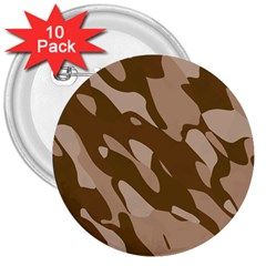 Background For Scrapbooking Or Other Beige And Brown Camouflage Patterns 3  Buttons (10 Pack)  by Nexatart