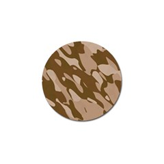 Background For Scrapbooking Or Other Beige And Brown Camouflage Patterns Golf Ball Marker by Nexatart