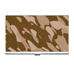 Background For Scrapbooking Or Other Beige And Brown Camouflage Patterns Business Card Holders by Nexatart