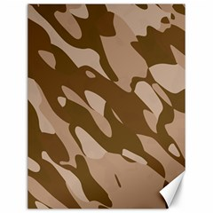 Background For Scrapbooking Or Other Beige And Brown Camouflage Patterns Canvas 12  X 16