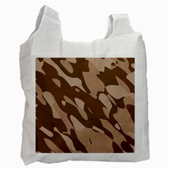Background For Scrapbooking Or Other Beige And Brown Camouflage Patterns Recycle Bag (one Side)