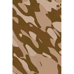 Background For Scrapbooking Or Other Beige And Brown Camouflage Patterns 5 5  X 8 5  Notebooks