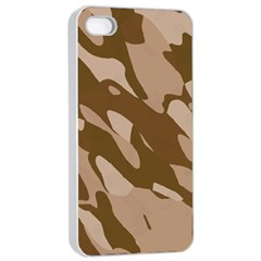 Background For Scrapbooking Or Other Beige And Brown Camouflage Patterns Apple Iphone 4/4s Seamless Case (white)