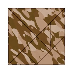 Background For Scrapbooking Or Other Beige And Brown Camouflage Patterns Acrylic Tangram Puzzle (6  X 6 ) by Nexatart