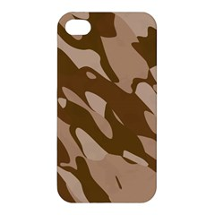 Background For Scrapbooking Or Other Beige And Brown Camouflage Patterns Apple Iphone 4/4s Premium Hardshell Case by Nexatart