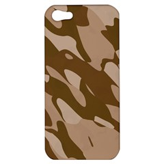 Background For Scrapbooking Or Other Beige And Brown Camouflage Patterns Apple Iphone 5 Hardshell Case by Nexatart