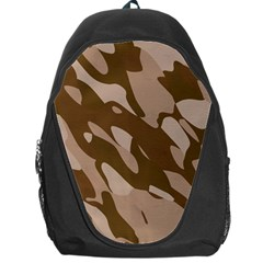 Background For Scrapbooking Or Other Beige And Brown Camouflage Patterns Backpack Bag