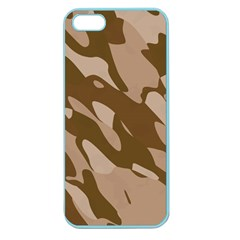 Background For Scrapbooking Or Other Beige And Brown Camouflage Patterns Apple Seamless Iphone 5 Case (color) by Nexatart