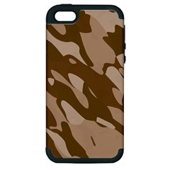 Background For Scrapbooking Or Other Beige And Brown Camouflage Patterns Apple Iphone 5 Hardshell Case (pc+silicone) by Nexatart