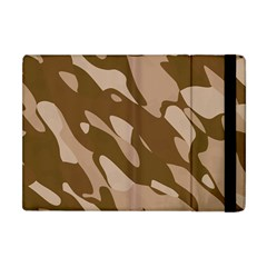 Background For Scrapbooking Or Other Beige And Brown Camouflage Patterns Apple Ipad Mini Flip Case by Nexatart