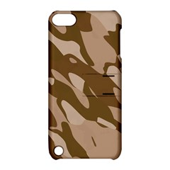 Background For Scrapbooking Or Other Beige And Brown Camouflage Patterns Apple Ipod Touch 5 Hardshell Case With Stand