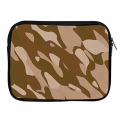 Background For Scrapbooking Or Other Beige And Brown Camouflage Patterns Apple Ipad 2/3/4 Zipper Cases by Nexatart