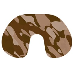 Background For Scrapbooking Or Other Beige And Brown Camouflage Patterns Travel Neck Pillows