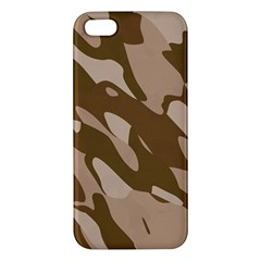 Background For Scrapbooking Or Other Beige And Brown Camouflage Patterns Iphone 5s/ Se Premium Hardshell Case