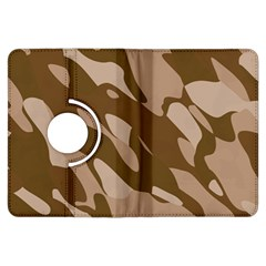 Background For Scrapbooking Or Other Beige And Brown Camouflage Patterns Kindle Fire Hdx Flip 360 Case by Nexatart