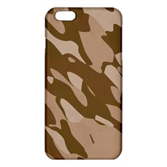 Background For Scrapbooking Or Other Beige And Brown Camouflage Patterns Iphone 6 Plus/6s Plus Tpu Case by Nexatart