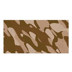 Background For Scrapbooking Or Other Beige And Brown Camouflage Patterns Satin Shawl by Nexatart