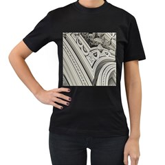 Arches Fractal Chaos Church Arch Women s T Shirt (black)
