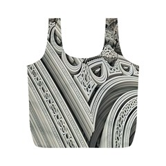 Arches Fractal Chaos Church Arch Full Print Recycle Bags (m)  by Nexatart